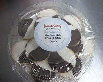 Cookies, Black and White 14 Cookies. Small version black and whites on Cookie PLatter, Wedding Favor, Party Favor
