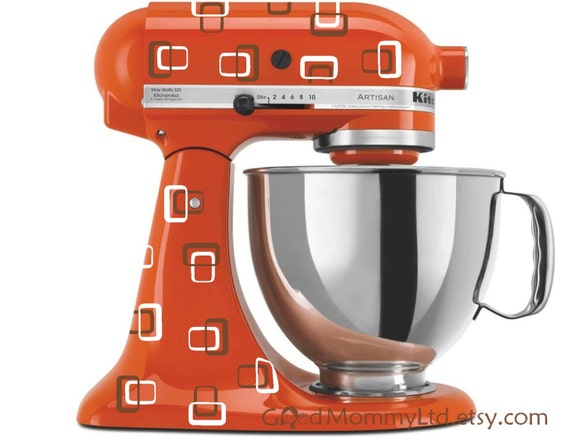 Kitchenaid Mixer Decals ~ Items similar to a very brady mixer retro decals for