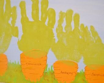 Easter Carrots Handprint Kit  - 11x14