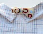 Dog Bow Tie Shirt for Chihuahua and Other Small Dogs - White Cotton Pet Clothes with Fine Check and Bow Tie, Customize for Good Fit