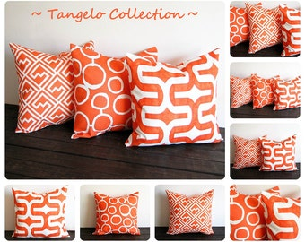Orange pillow cover ONE cushion cover Tangelo tangerine orange decorative throw pillow cushion cover pillow sham