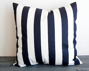 Navy blue and white throw pillow cover pillow sham cushion cover