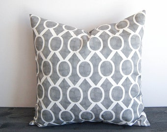 Gray throw pillow cover storm gray and white throw pillow cover pillow sham Sydney