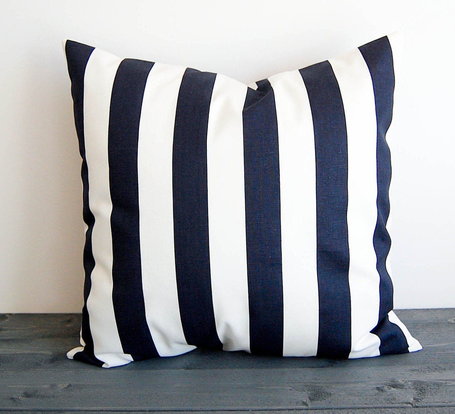 Navy blue and white throw pillow cover pillow sham cushion