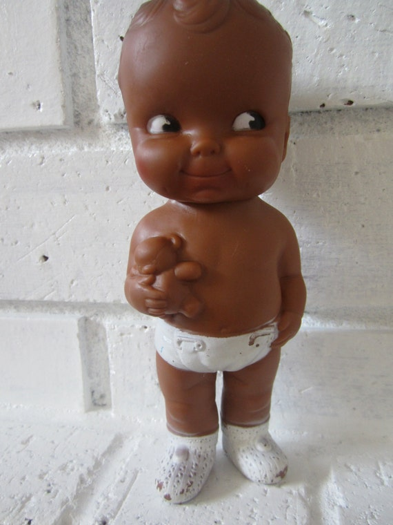 Edward Mobley, Black Baby Doll in diaper, African American, 1954, Rubber squeak - il_570xN.453163486_3rz3