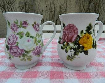 Two milk jugs flower