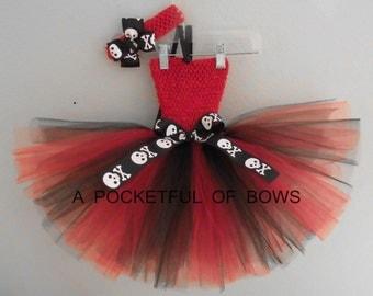 Red and Black Tutu Dress, Sports Team Tutu Dress