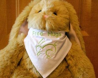 Bunny Bandana Free Hugs Bunny Scarf Rabbit Bandana