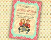 A Vintage Valentine DIY Printable Birthday Invitation, Valentine's Day Party, School Party