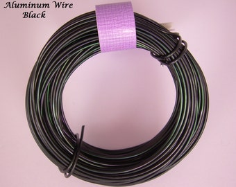 Anodized Aluminum 18ga wire 39 Ft Black Color Soft