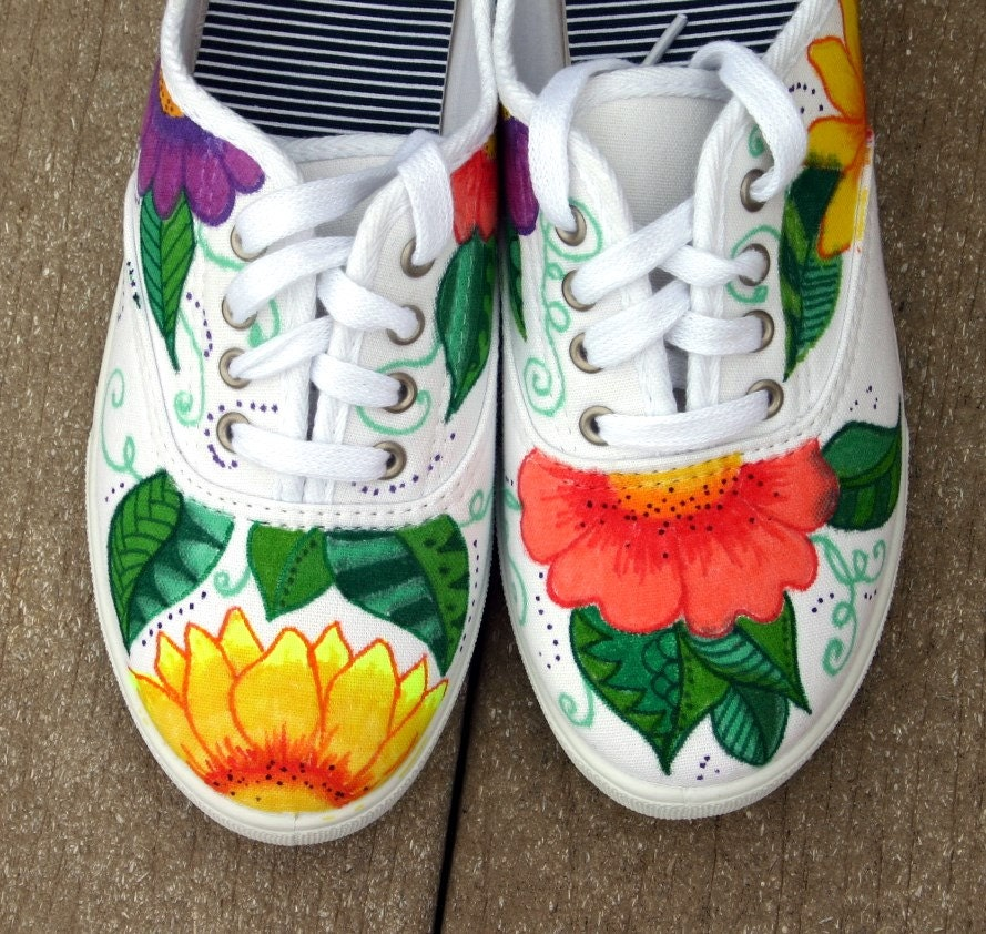 painted shoes sneakers tropical original