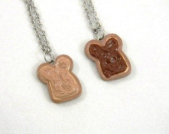 Friendship Necklaces Peanut Butter and Chocolate Hazelnut Spread