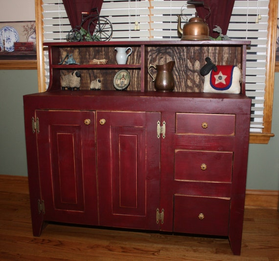 christmas in july 10 off sideboard buffet by redbudprimitives. Black Bedroom Furniture Sets. Home Design Ideas