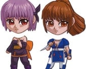 Mix and Match Magnets: Ayane, Kasumi (Dead or Alive Set)