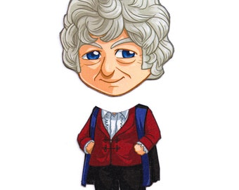 Mix and Match Magnets: Third Doctor (Doctor Who)
