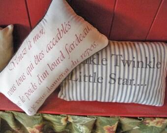 Set of 2 Decorative Nursery Pillows