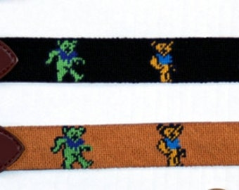 Needlepoint Belt Grateful Dead Dancing Bears