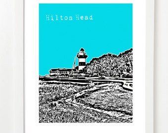 Hilton Head Art Print - Hilton Head South Carolina Poster - Hilton Head Wedding Gift -