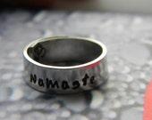 namaste  aluminum wrapped style  ring 1/4 inch