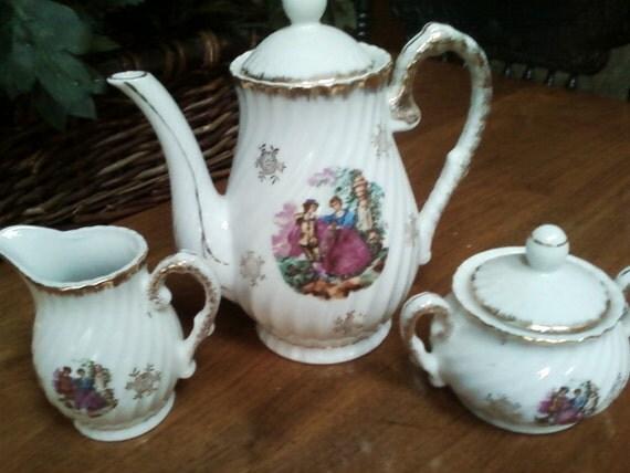 items similar to shabby chic tea set trio on etsy