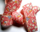 """Bunny Balloons Cotton Ribbon Trim, Pink, 1 3/8"""" inch wide, 1 yard, For Children Crafts, Gifts, Party, Home Decor, Scrapbook, Mixed Media"""