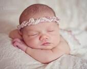 The Emma Tieback Baby Flower Headband, Newborn Headband, Baby Flower Headband, Baby Girl Flower Headband, Photography Prop