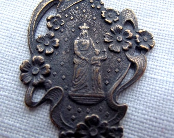 Bronze Immaculate Heart with Our Lord Medal VP996