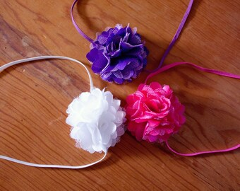 Pink and purple headbands.. Headband sets.. Baby girl headbands