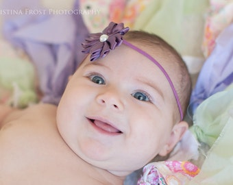 baby girls purple headband..girls purple headband..purple headband..baby girls purple headband..newborn headbands..baby girls headband
