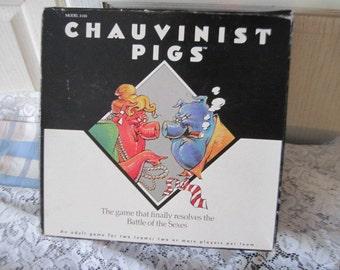 Chauvinist Pig Game Tiger Games, Vintage Board Games, Vintage Game, Game Night,Adult Game,  /