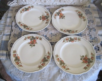 Homer Laughlin China salad plates, Newell Shape, Vintage China, Vintage Kitchen, Vintage Home , Mid Century 1950 1960   Newell Shape :)s /