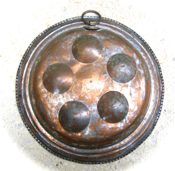 Antique copper plated mold middle eastern decor metal wall for Egg tray wall hanging