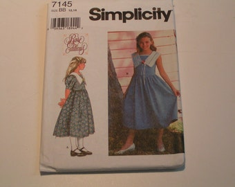Simplicity Pattern 7145 rare editions Girls Dress