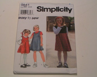 Simplicity Pattern easy to sew 9841 Child Jumper and Top