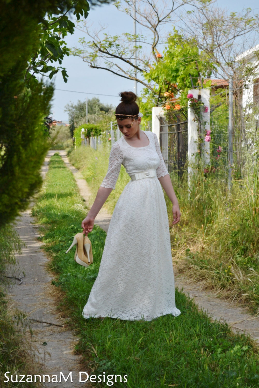 Vintage Wedding Dress Lace Wedding Dress SuzannaM Designs