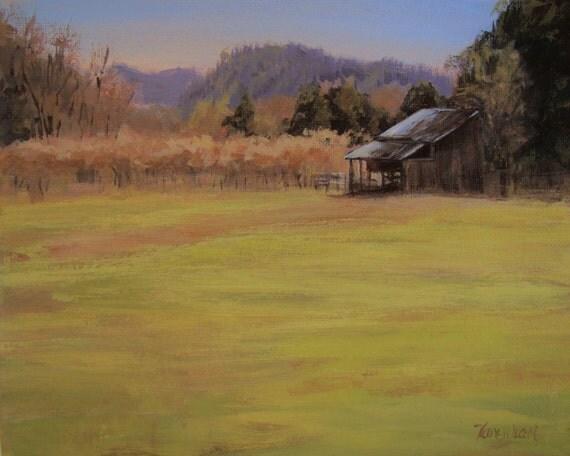 Orchard View - Original Plein Air Rural Landscape Painting