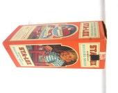 Vintage Sta Lox Building Blocks, Interlocking Bricks, Original Carbdboard Contatainer, 1960s Children's Building Playset,  Educational Toy