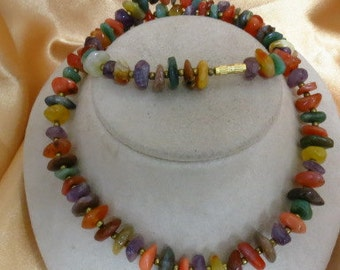 Handmade Multi Colored Stone Necklace