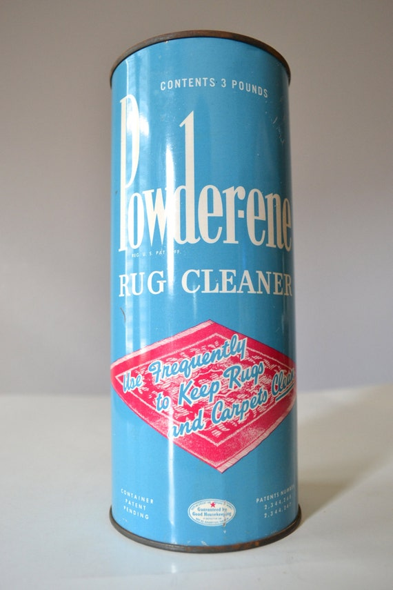 Vintage Powderene Rug Cleaner Can Vintage Tin Can 1940s