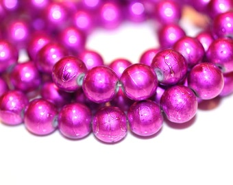 80pc Purple Loose Beads-Necklace and Bracelet Beads-Basketball wives inspired-10mm