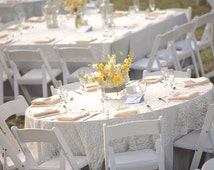 White Lace Tablecloths, White Lace Overlays, Lace, White Wedding, Baby Shower, Christmas