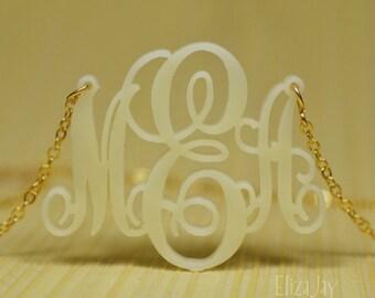 Sydney monogram acrylic necklace