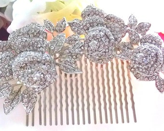 Rose Bouquet Hair Comb. Wedding, Bridal, Special Occasion