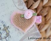 Toddler Hair Clip Baby Hair Clip Infant Hair Clip Kids Hair Clip Pink Heart Hair Clip