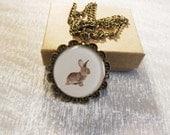 Bunny necklace floral necklace