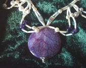 Dragon Vein Agate Necklace with earrings
