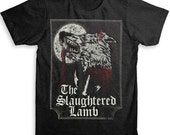 Slaughtered Lamb T Shirt - American Apparel Tri-Blend Vintage Fashion - Graphic Tees for Men & Women