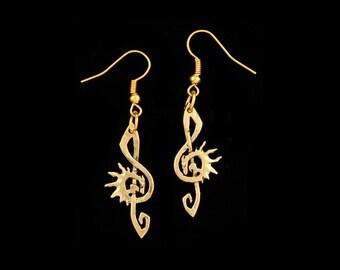 Dragon G-Clef  Earrings