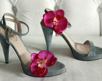 Orchid Shoe Clips (Bright Magenta)
