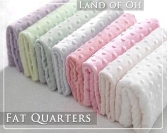 8 Color Minky Fat Quarter Bundle 1.5 mm Dimple Dot  in 8 Colors - 30135